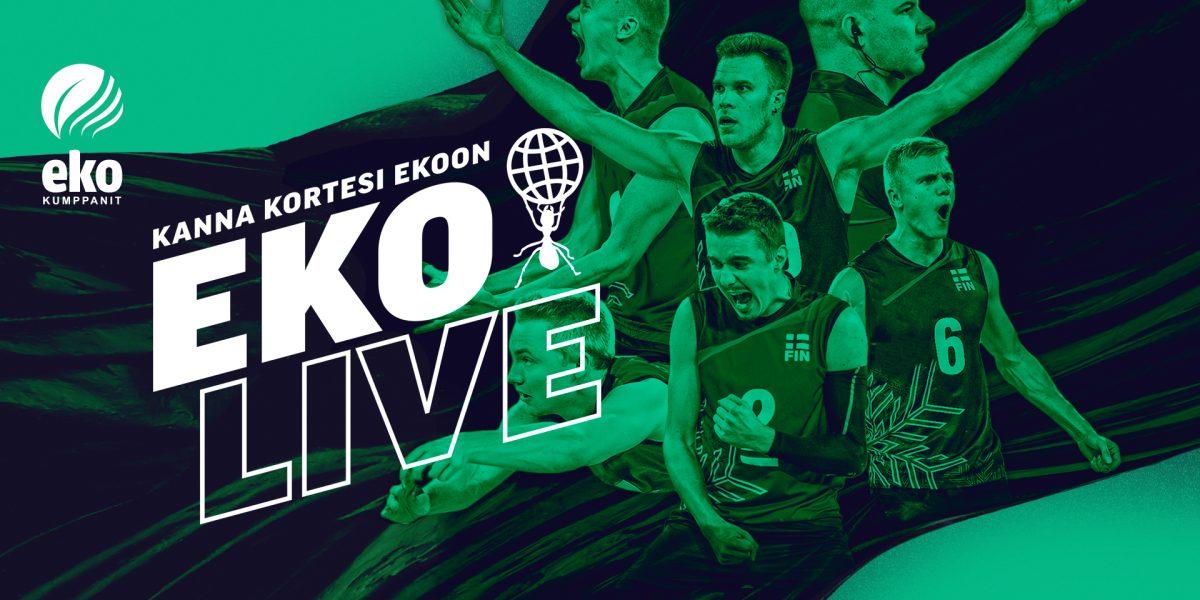 ekolive-blogin otsikkokuva, jossa kuva Suomen lentopallomaajoukkueen pelaajista