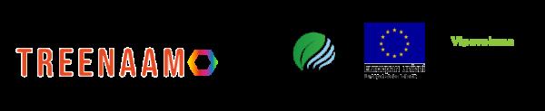 Treenamon, Ekokumppanien, Euroopan Sosiaalirahaston sekä Vipuvoimaa EU:lta -logot